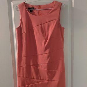AB studio coral salmon sheath dress